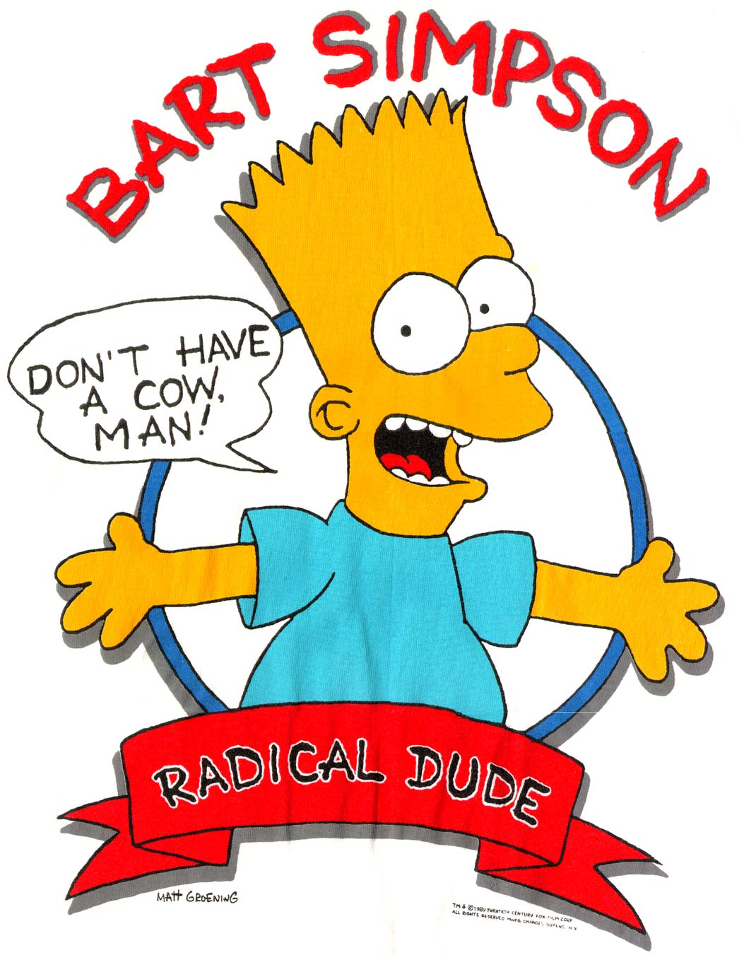 Bart Simpson  Don t Give A Cow Man